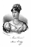 Marie Louise (1791-1847) Empress of the French, daughter of Francis I of Austria. Second wife of Napoleon I from 1810, on whose abdication she returned to own country. Lithograph c1830.