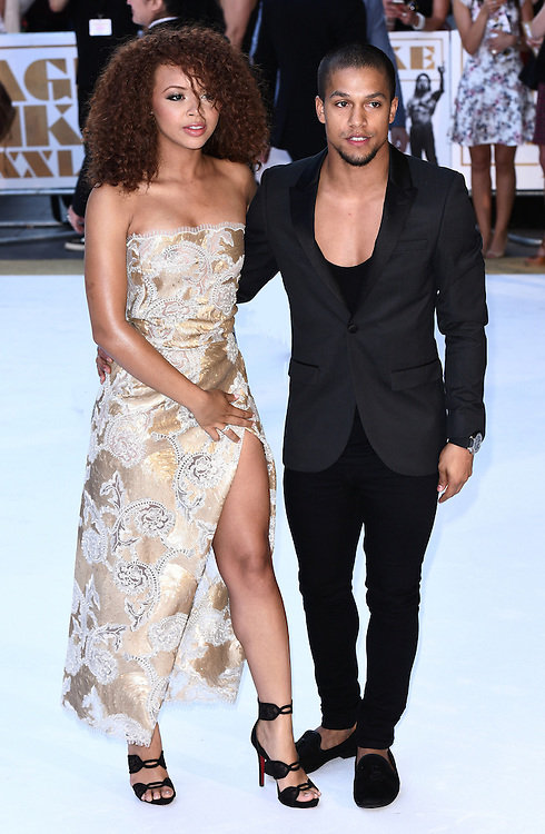 Alexis Jordan and Luke Broadlick attend Magic Mike XXL European Premiere at Vue West End, Leicester Square, London  on Tuesday 30 June 2015