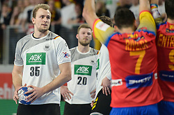 Julius Kuhn of Germany during handball match between National teams of Germany and Spain on Day 7 in Main Round of Men's EHF EURO 2018, on January 24, 2018 in Arena Varazdin, Varazdin, Croatia. Photo by Mario Horvat / Sportida