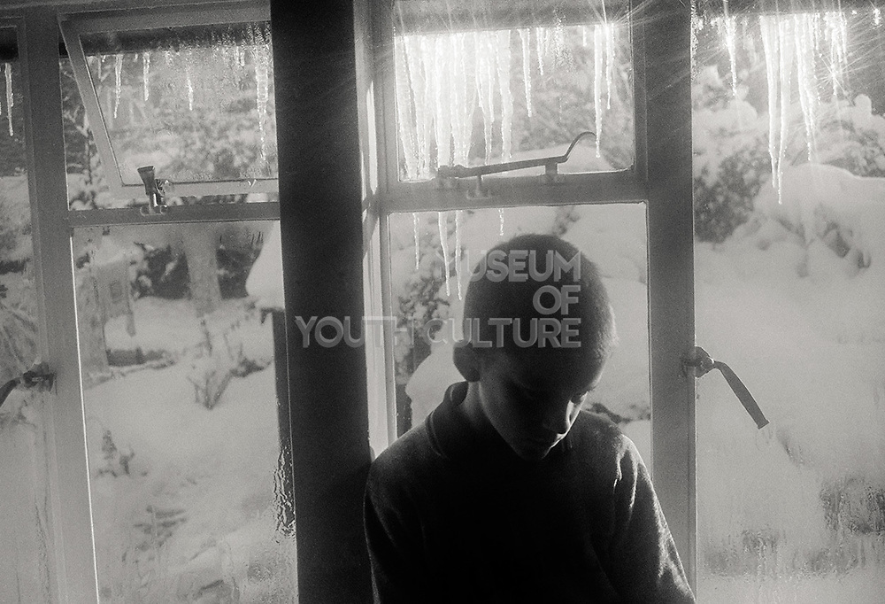 Neville with Icicles, High Wycombe. 1980s.