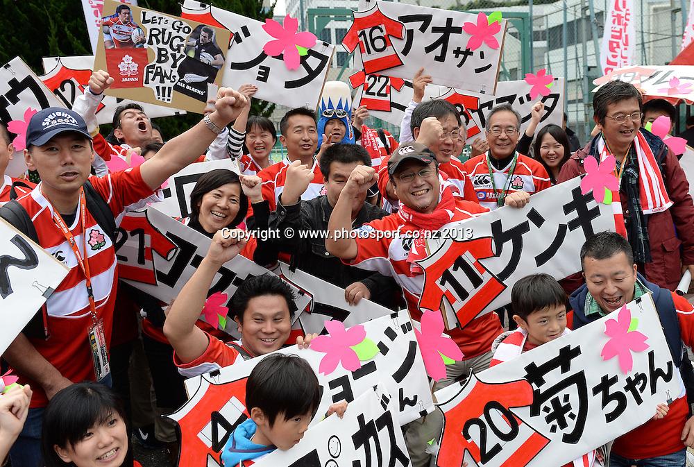 Japan fans. Japan v New Zealand All Blacks. Test match rugby union. Tokyo, Japan. Saturday 2 November 2013. Photo: Andrew Cornaga/www.Photosport.co.nz