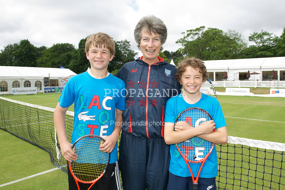 LIVERPOOL, ENGLAND - Sunday, June 19, 2011: Virginia Wade at a ProAm on day four of the Liverpool International Tennis Tournament at Calderstones Park. (Pic by David Rawcliffe/Propaganda)