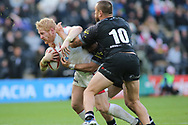 James Graham (L) of England on the attack against Jared Waerea-Hargreaves (R) of New Zealand during the Autumn International Series match at the KCOM Stadium, Hull<br /> Picture by Stephen Gaunt/Focus Images Ltd +447904 833202<br /> 27/10/2018