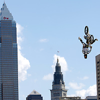 Aam Jones at the FMX Finals at the AST Dew Tour Right Guard Open in Cleveland...Photo by Ken Blaze