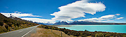 Road to Mount Cook, panoramic