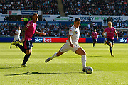 Connor Roberts (23) of Swansea City on the attack during the EFL Sky Bet Championship match between Swansea City and Queens Park Rangers at the Liberty Stadium, Swansea, Wales on 29 September 2018.