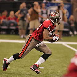 2008 September 7: Ike Hilliard (19) of the Tampa Bay Buccaneers runs back a kick against the New Orleans Saints at the Louisiana Superdome in New Orleans, LA.  The New Orleans Saints defeated the Tampa Bay Buccaneers 24-20.