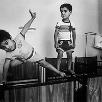 Children in an orphanage in the outskirts of Beirut, Lebanon in 1981.