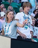 ALEXANDER ZVEREV (GER) und Mutter Irnia in der Spielerloge,<br /> <br /> Australian Open 2017 -  Melbourne  Park - Melbourne - Victoria - Australia  - 22/01/2017.