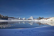 Wing tracks in the snow, Snake River, Grand Teton Reflection, Grand Teton National Park<br />