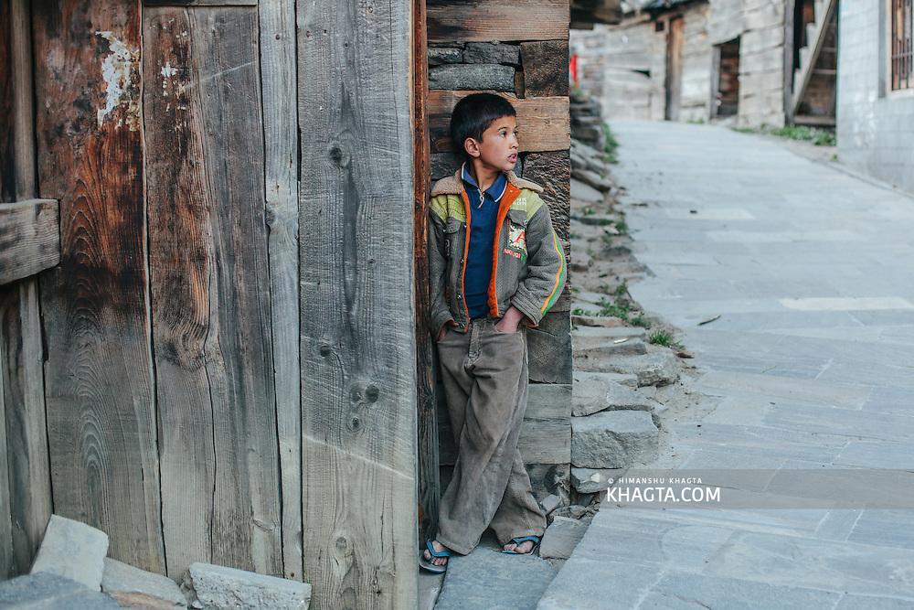 Portrait of a boy from Kalpa, Kinnaur
