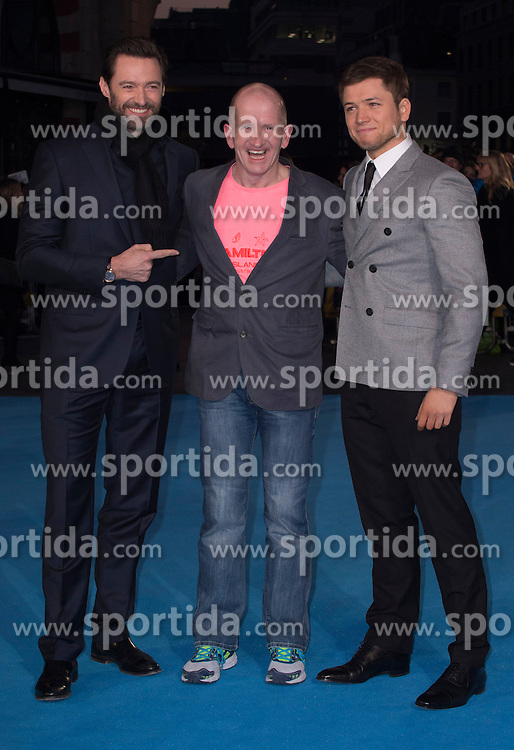 Eddie &quot;The Eagle&quot; Edwards Hugh Jackman and Taron Egerton attends the European premiere for &quot;Eddie the Eagle at Odeon Leicester Square in London, 17.03.2016. EXPA Pictures &copy; 2016, PhotoCredit: EXPA/ Photoshot/ Euan Cherry<br /> <br /> *****ATTENTION - for AUT, SLO, CRO, SRB, BIH, MAZ, SUI only*****