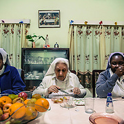 Sister Carla (center) came from Milan to Mozambique more than 60 years ago. She was one of the first missionary sisters from FMA (Figlie di Maria Ausiliatrice) to arrive here