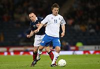 Scotland v Iceland<br /> World Cup Qualifier<br /> Hampden Park / BT Stadium<br /> Glasgow<br /> <br /> Scott Brown and Palmi Rarn Palmason<br /> 1st April 2009<br /> <br /> <br /> <br /> <br /> Ian MacNicol<br /> 07949 850 537<br /> ian_mac1966@yahoo.com<br /> www.ianmacnicolimages.co.uk