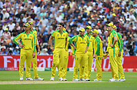 Cricket - 2019 ICC Cricket World Cup - Semi-Final: England vs. Australia<br /> <br /> Australia wait on as as Umpire Dharmasena gives England's Jason Roy out for 85, caught by Australia's Alex Carey off the bowling of Pat Cummins, at Edgbaston, Birmingham.<br /> <br /> COLORSPORT/ASHLEY WESTERN