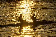 UNITED KINGDOM, London: 19 April 2018 Londoners enjoy another warm morning on the banks of the River Thames in Hammersmith this morning. It is reported that today may be the warmest April day in 70 years. Rick Findler / Story