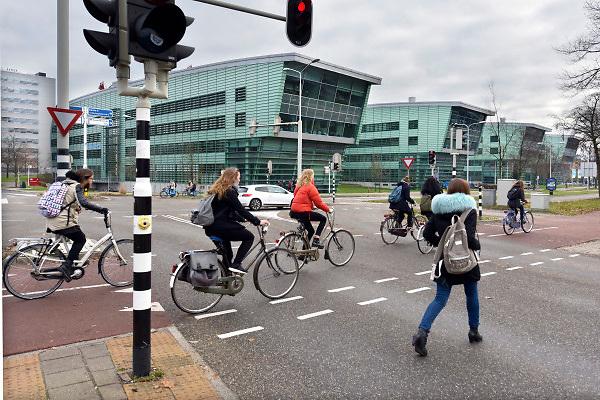 Nederland, Nijmegen, 12-12-2018Campus heyendaal .Het huygensgebouw van de radboud universiteit, ru, waar de beta studies gehuisvest zijn. Foto: Flip Franssen
