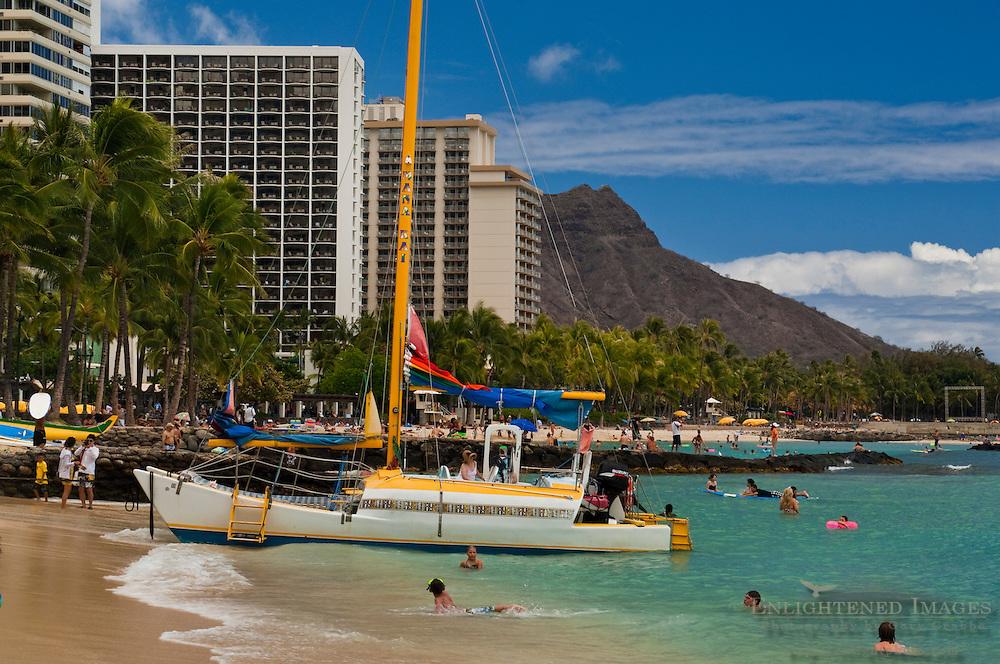 Kuhio Beach Park, Waikiki Beach, Honolulu, Oahu, Hawaii