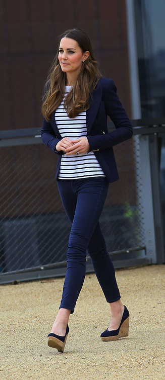 The Duchess of Cambridge leaving SportsAid Athlete Workshop at the Copper Box, in the Queen Elizabeth Olympic Park in London, United Kingdom,  Friday, 18th October 2013. Picture by Stephen Lock / i-Images