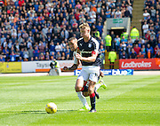 Dundee's Mark O'Hara races past Rangers' James Tavernier - Dundee v Rangers, Ladbrokes Scottish Premiership at Dens Park<br /> <br />  - © David Young - www.davidyoungphoto.co.uk - email: davidyoungphoto@gmail.com