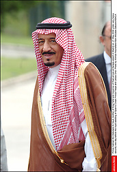 File photo - Salman Bin Abdulaziz Al Saud becomes New Saudi King after King Abdullah bin Abdulaziz has died, royal officials have announced, weeks after he was admitted to hospital. King Abdullah, who was said to be aged about 90, had been suffering from a lung infection. A statement early on Friday said his 79-year-old half brother, Salman, had become king. File photo : Prince Salman Bin Abdulaziz Al Saud, brother of King Fahd and Governor of Riad arrives at Barajas airport in Madrid on 21 May 2004 under very heavy security one day before the royal wedding of Spain's Crown Prince Felipe and Letizia Ortiz. Saudi Arabia's king has appointed his son Mohammed bin Salman as crown prince - replacing his nephew, Mohammed bin Nayef, as first in line to the throne. Prince Mohammed bin Nayef, 57, has been removed from his role as head of domestic security, state media say. Photo by Ammar-Hounsfield-Klein-Mousse-Zabulon/ABACA