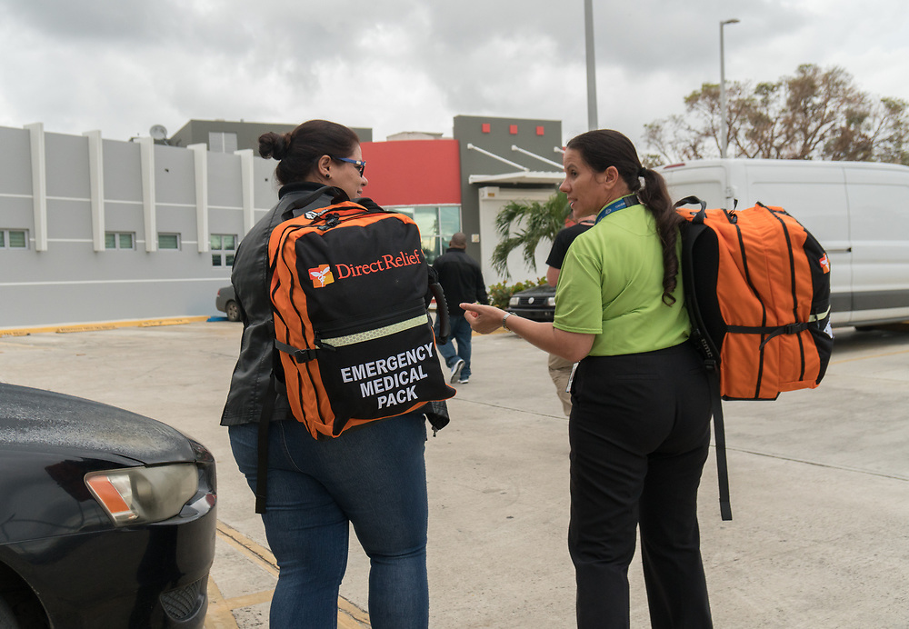OCTOBER 6, 2017--RINCON, PUERTO RICO ---<br /> Direct Relief's delivery of medical supplies to  Costa Salud Hospital following the path of Hurricane Maria through Puerto Rico.<br /> (Photo by Angel Valentin/Freelance)