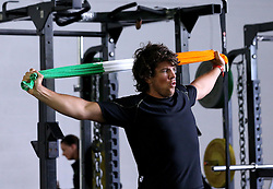 Donncha O'Callaghan of Worcester Warriors lifts an Ireland towel above his head - Mandatory by-line: Robbie Stephenson/JMP - 07/06/2016 - RUGBY - Worcester Warriors - Pre-season training session