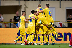 Players of NK Domzale celebrate goal during 2nd Leg football match between NK Domzale and FC Ufa in 2nd Qualifying Round of UEFA Europa League 2018/19, on August 2, 2018 in Sports Park Domzale, Domzale, Slovenia. Photo by Urban Urbanc / Sportida