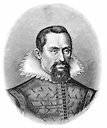 Johannes Kepler (1571-1630) German astronomer. Engraving c1903