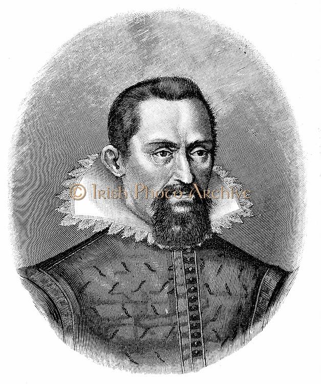 Johannes Kepler (1571-1630) German astronomer. Engraving c1903