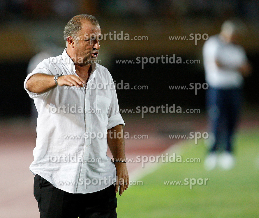 04.08.2012, Ataturk Stadium, Izmir, TUR, Testspiel, Galatasaray Istanbul vs Lazio, im Bild Coach Fatih Terim of Galatasaray.  during Friendly Match between Galatasaray Istanbul and Lazio at the Ataturk Stadium, Izmir, Turkey on 2012/08/04. EXPA Pictures © 2012, PhotoCredit: EXPA/ Seskimphoto/ Sphk/ ****** ATTENTION - for AUT, ESP, ITA, SWE, SLO, NOR, FIN, SRB NED and USA ONLY! *****