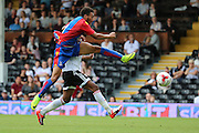 Crystal Palace player, Keshi Anderson scoring Palace goal 2-1 during the Pre-Season Friendly match between Fulham and Crystal Palace at Craven Cottage, London, England on 30 July 2016. Photo by Matthew Redman.