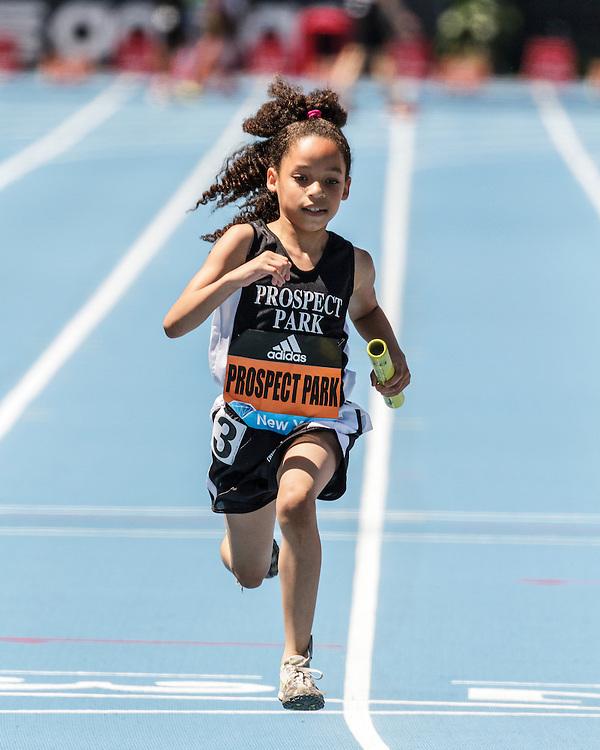adidas Grand Prix Diamond League Track & Field: girls 4x100 youth relay, Prospect Park