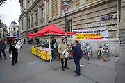 Universities in Vienna, Austria..Universität Wien..Demonstration against fees for studyiing (Studiengebühren).