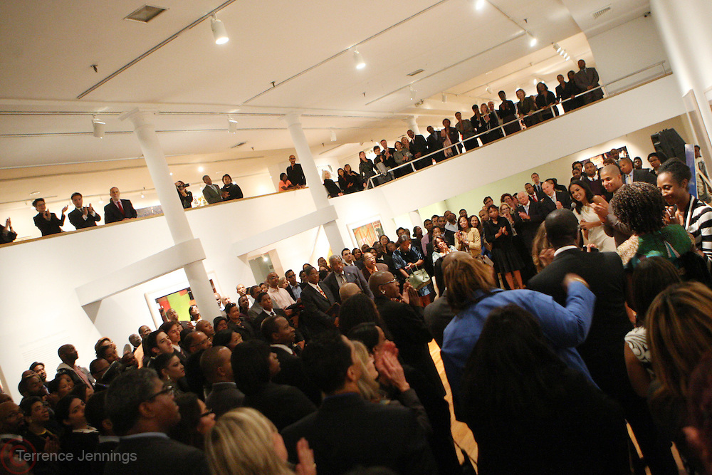 12 October 2010 - New York, NY- Audience at the ' INSPIRED: Iconic Images of African-American Women ' Book Launch presented by Morgan Stanley and held at The Studio Museum in Harlem on OCtober 12, 2010 in the Village of Harlem, USA. Photo Credit: Terrence Jennings