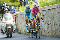 Alberto Contador / Tanel Kangert - Tinkoff Saxo - 30.05.2015 - Tour d'Italie - Etape 20 : Saint Vincent / Sestriere<br />Photo : Sirotti / Icon Sport