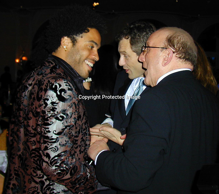 Lenny Kravitz and Clive Davis<br />