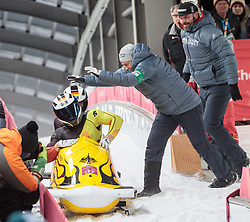 19.02.2018, Olympic Sliding Centre, Pyeongchang, KOR, PyeongChang 2018, Bob, Zweisitzer, Herren, im Bild Francesco Friedrich, Thorsten Margis (GER, 1. Platz) // gold medalist and Olympic champion Francesco Friedrich Thorsten Margis of Germany during the mens doubles Bobsleigh of the Pyeongchang 2018 Winter Olympic Games at the Olympic Sliding Centre in Pyeongchang, South Korea on 2018/02/19. EXPA Pictures © 2018, PhotoCredit: EXPA/ Johann Groder
