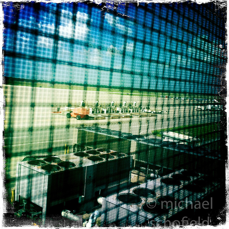 Sanford International airport. Orlando holiday 2012. Photo taken with the Hipstamatic photo application on Apple iPhone 4.