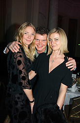 Left to right, JODIE KIDD, JACK KIDD and JEMMA KIDD at the Holders Season Barbados Comes to London night at the Landmark Hotel, Marylebone Rd, London on 1st February 2007.<br />