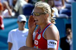 27-08-2006: VOLLEYBAL: NESTEA EUROPEAN CHAMPIONSHIP BEACHVOLLEYBALL: SCHEVENINGEN<br /> Rebekka Kadijk pakt voor de 4de keer de zilveren medaille op een EK<br /> ©2006-WWW.FOTOHOOGENDOORN.NL