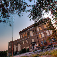 The abandoned Switzer School from near the intersection of 20th and Summit in the West Side neighborhood of KCMO. The building closed in the 80s.