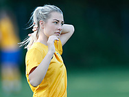 FODBOLD: Christine Kelm (Ølstykke FC) før træningskampen mellem Ølstykke FC og BSF den 10. august 2017 på Ølstykke Idrætsanlæg. Foto: Claus Birch