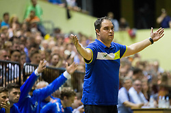 Branko Tamse, head coach of Celje PL during handball match between RK Gorenje Velenje and RK Celje Pivovarna Lasko in Final match of 1st NLB League - Slovenian Championship 2013/14 on May 23, 2014 in Rdeca dvorana, Velenje, Slovenia. Photo by Vid Ponikvar / Sportida
