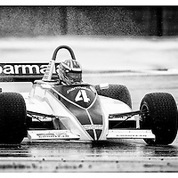 #4, Brabham BT49C (1981), Joaquin Folch-Rusinol (ES), Silverstone Classic 2015, FIA Masters Historic Formula One. 24.07.2015. Silverstone, England, U.K.  Silverstone Classic 2015.