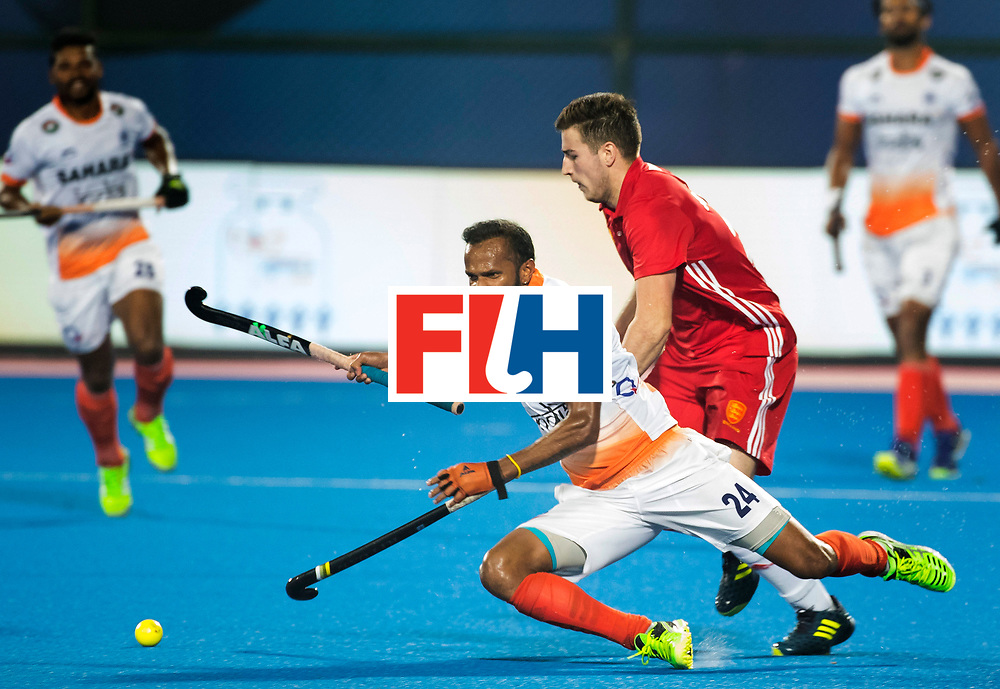 BHUBANESWAR - The Odisha Men's Hockey World League Final . Match ID 06 . India v England (2-3).  Sunil Sowmarpet (Ind)      WORLDSPORTPICS COPYRIGHT  KOEN SUYK