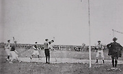 """This historic picture from the 1908 championship shows the old-style goalpots in use early in the 20th century. Note the knee-breeches and the shape of the hurleys then in use. Tipperary's Jim """"Hawk"""" O'Brien is in the goal."""