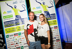 Grega Zemlja at Players party during Day 6 at ATP Challenger Zavarovalnica Sava Slovenia Open 2018, on August 8, 2018 in Sports centre, Portoroz/Portorose, Slovenia. Photo by Vid Ponikvar / Sportida