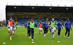 Bristol rovers players warm up. - Mandatory by-line: Alex James/JMP - 10/02/2018 - FOOTBALL - Kassam Stadium - Oxford, England - Oxford United v Bristol Rovers - Sky Bet League One