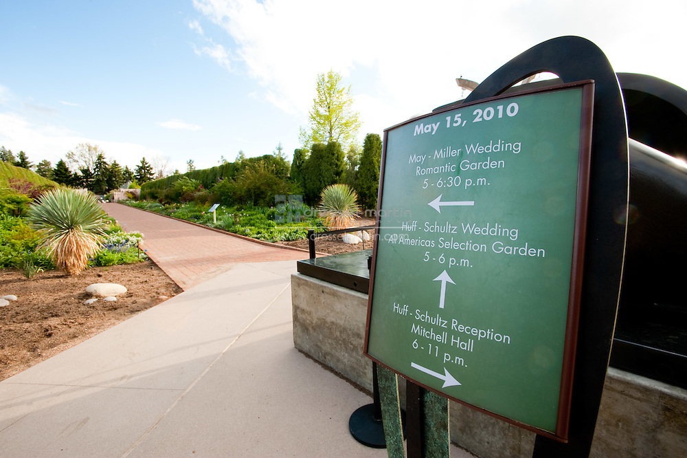 Denver Botanic Gardens, Mitchell Hall, Wedding set-up,